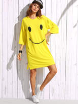 romwe-print-drop-shoulder-t-shirt-dress
